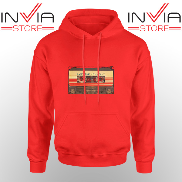 Best Hoodie Awesome Mix Cassette Guardian Adult Unisex Red