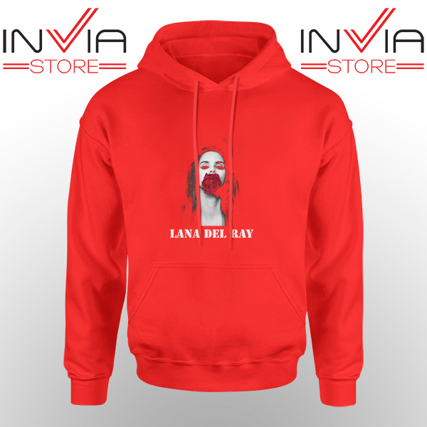 Best Hoodie Lana Del Rey Rose Red Hoodies Adult Unisex Red