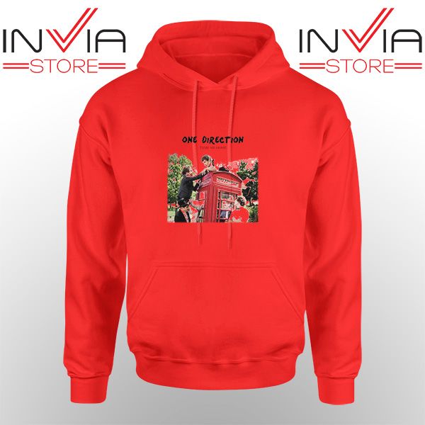 Best Hoodie One Direction Telephone Booth Adult Unisex Red