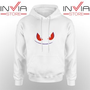 Best Hoodie Pokemon Gengar Evolution Hoodies Adult Unisex White