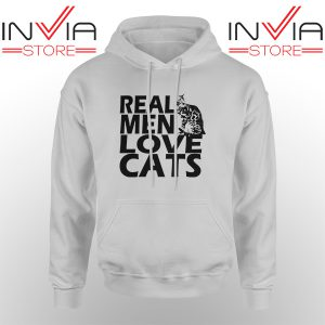 Best Hoodie Real Men Love Cats Black Hoodies Adult Unisex Grey