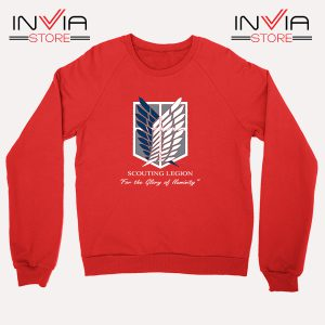 Buy Sweatshirt Attack On Titan Scouting Legion Size S-3XL Red