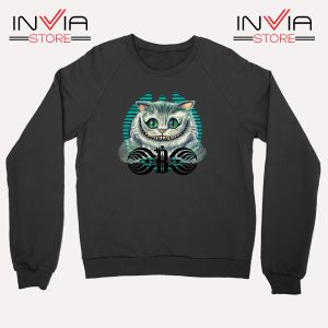 Buy Sweatshirt Bassnectar Chashire Cat Sweater Size S-3XL Black