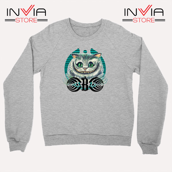 Buy Sweatshirt Bassnectar Chashire Cat Sweater Size S-3XL Grey
