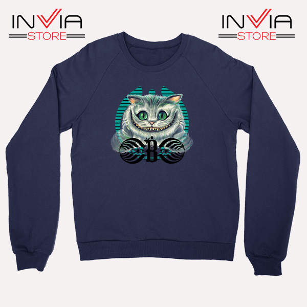 Buy Sweatshirt Bassnectar Chashire Cat Sweater Size S-3XL Navy