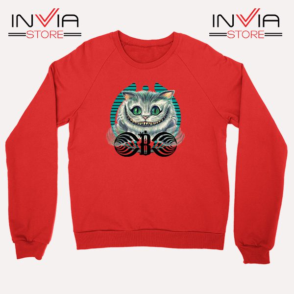 Buy Sweatshirt Bassnectar Chashire Cat Sweater Size S-3XL Red