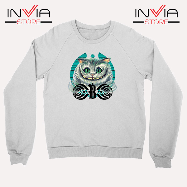 Buy Sweatshirt Bassnectar Chashire Cat Sweater Size S-3XL White
