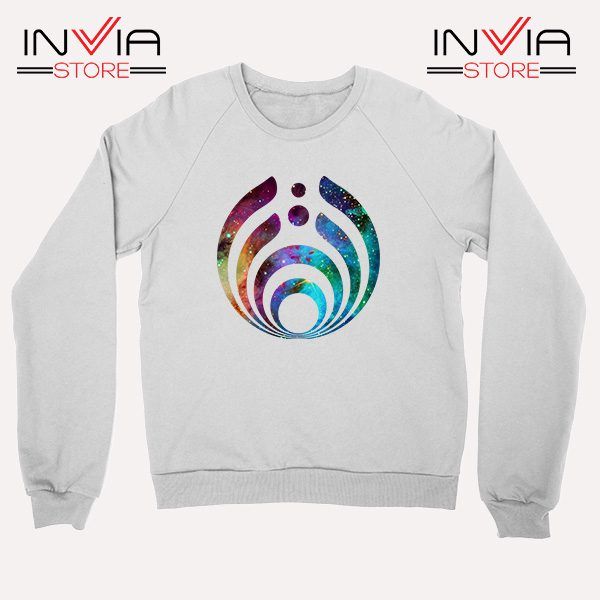 Buy Sweatshirt Bassnectar Nebula Logo Sweater Size S-3XL White