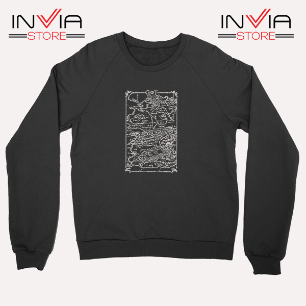 Buy Sweatshirt Game Of Thrones Map Sweater Size S-3XL Black