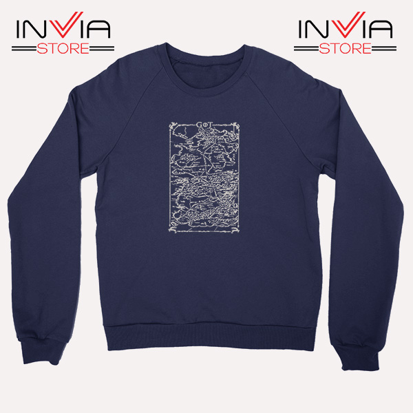 Buy Sweatshirt Game Of Thrones Map Sweater Size S-3XL Navy