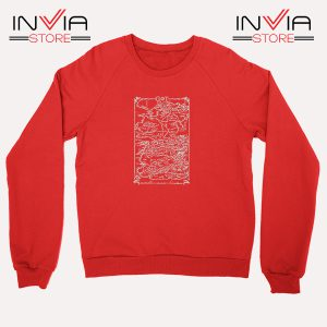 Buy Sweatshirt Game Of Thrones Map Sweater Size S-3XL Red