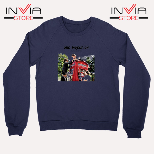 Buy Sweatshirt One Direction Telephone Booth Size S-3XL Navy