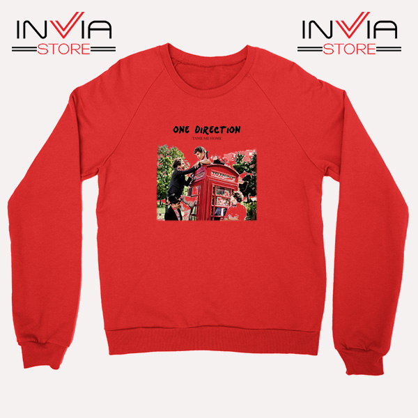 Buy Sweatshirt One Direction Telephone Booth Size S-3XL Red