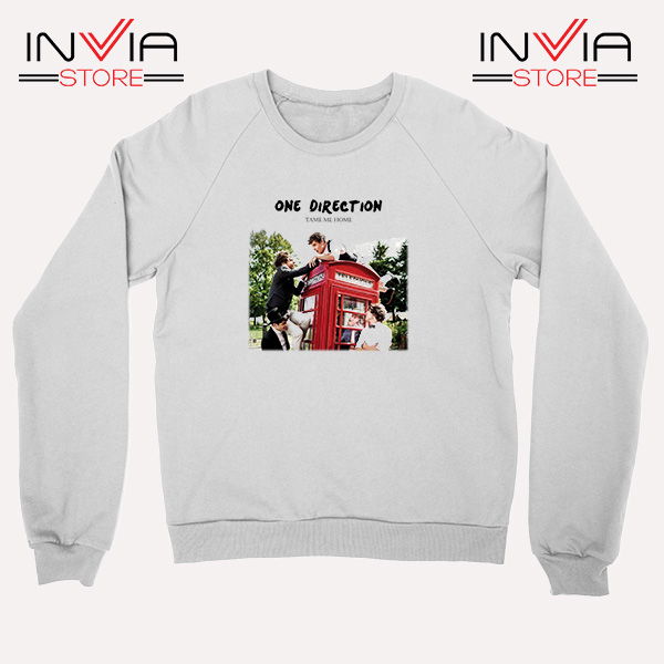 Buy Sweatshirt One Direction Telephone Booth Size S-3XL White