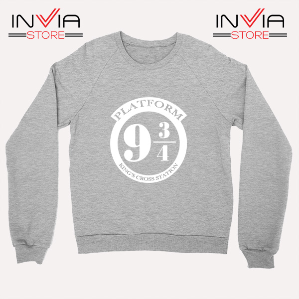 Buy Sweatshirt Platform 9 3/4 Harry Potter Sweater Size S-3XL Grey