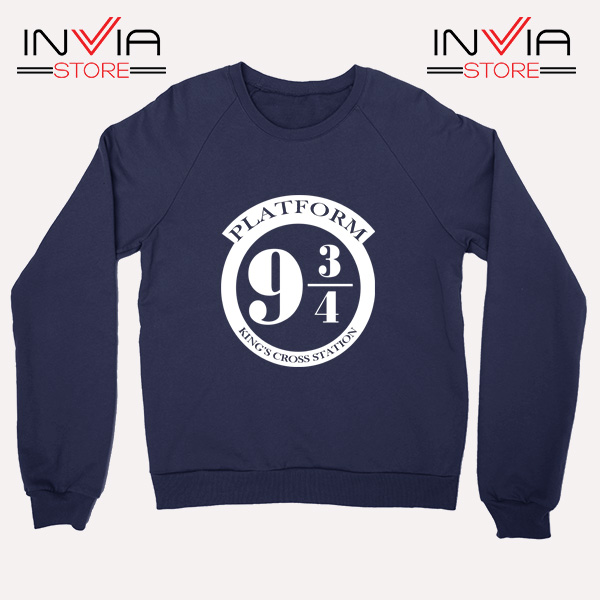 Buy Sweatshirt Platform 9 3/4 Harry Potter Sweater Size S-3XL Navy