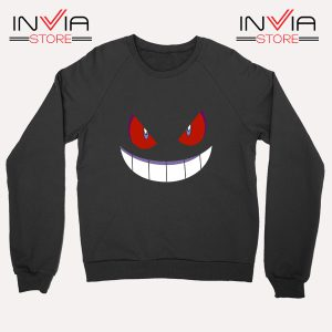 Buy Sweatshirt Pokemon Gengar Evolution Sweater Size S-3XL Black