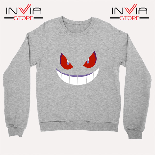 Buy Sweatshirt Pokemon Gengar Evolution Sweater Size S-3XL Grey
