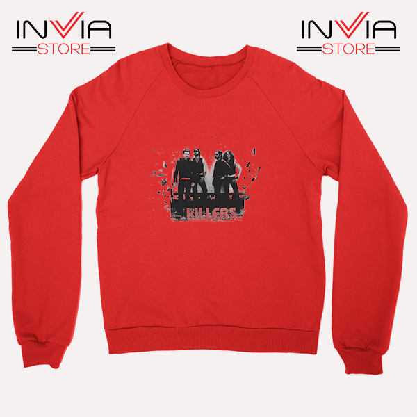 Buy Sweatshirt The Killers Band Wonderful Sweater Size S-3XL Red