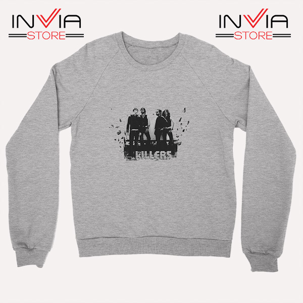 Buy Sweatshirt The Killers Band Wonderful Sweater Size S-3XL Grey