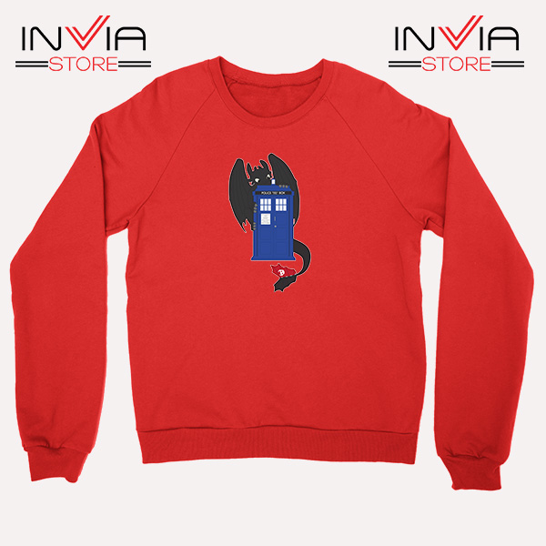 Buy Sweatshirt Toothless Dragon Telephone Booth Size S-3XL Red