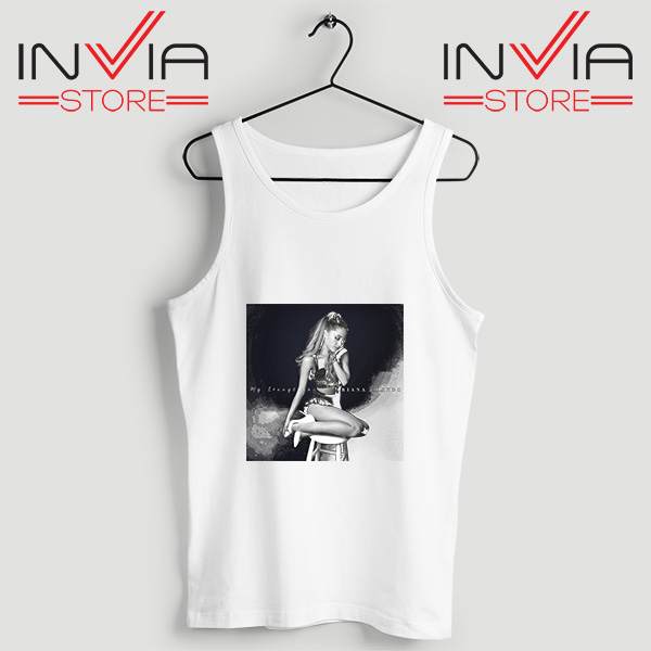 Buy Tank Top Ariana Grande Costume Custom Size S-3XL White