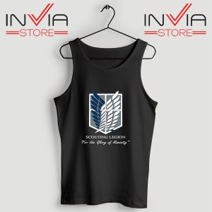Buy Tank Top Attack On Titan Scouting Legion Size S-3XL Black