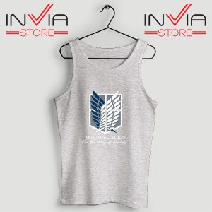 Buy Tank Top Attack On Titan Scouting Legion Size S-3XL Grey