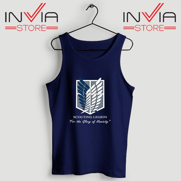 Buy Tank Top Attack On Titan Scouting Legion Size S-3XL Navy