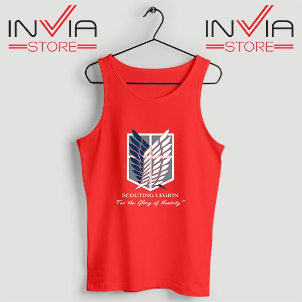 Buy Tank Top Attack On Titan Scouting Legion Size S-3XL Red