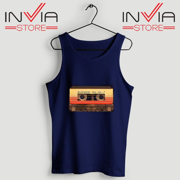 Buy Tank Top Awesome Mix Cassette Guardian Size S-3XL Navy