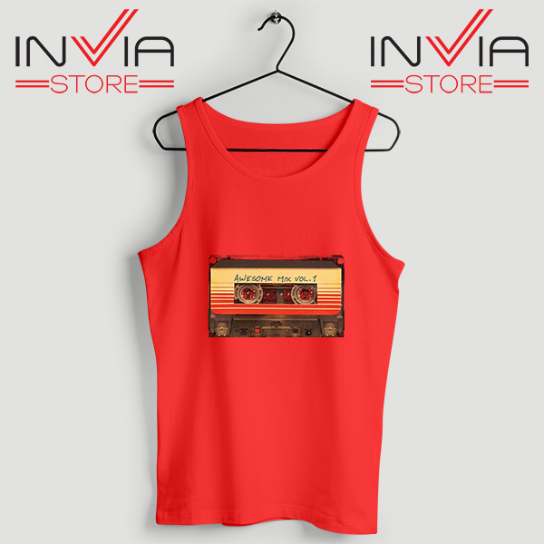 Buy Tank Top Awesome Mix Cassette Guardian Size S-3XL Red