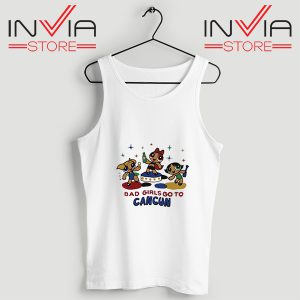 Buy Tank Top Bad Girl Go To Cancum Powerpuff Girl White