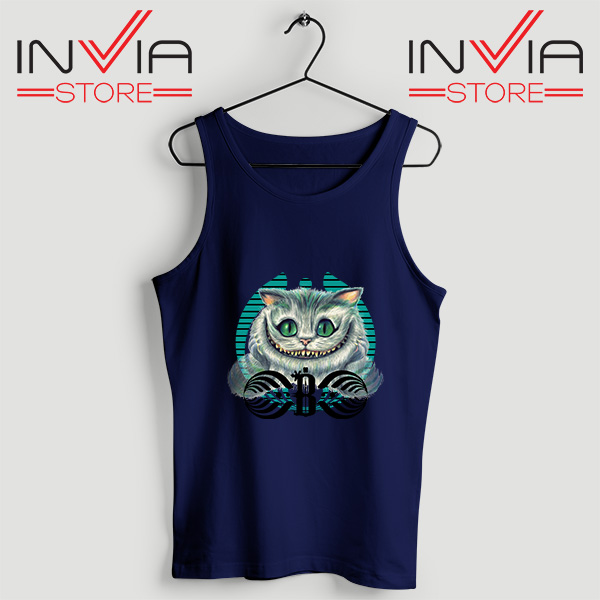 Buy Tank Top Bassnectar Chashire Cat Custom Size S-3XL Navy