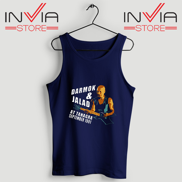 Buy Tank Top Darmok And Jalad At Tanagra Custom Size S-3XL Navy