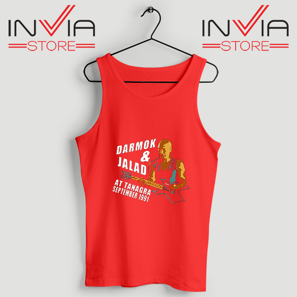 Buy Tank Top Darmok And Jalad At Tanagra Custom Size S-3XL Red
