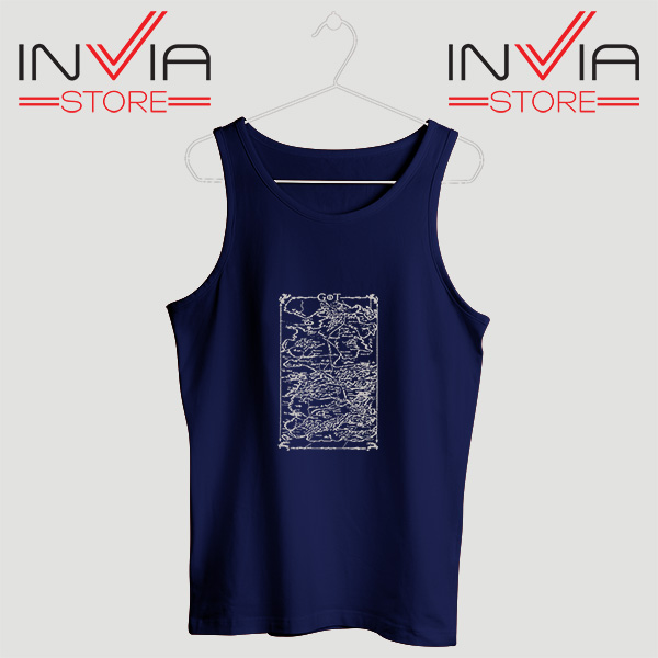 Buy Tank Top Game Of Thrones Map Custom Size S-3XL Navy