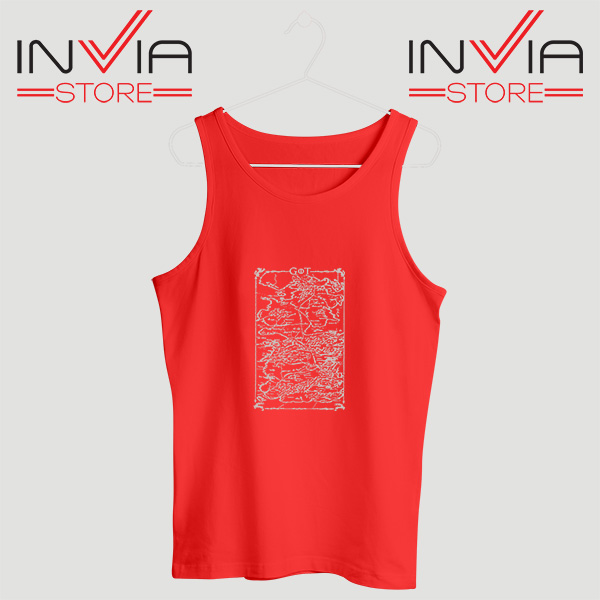 Buy Tank Top Game Of Thrones Map Custom Size S-3XL Red