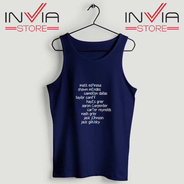 Buy Tank Top Magcon is Perfection Custom Size S-3XL Navy