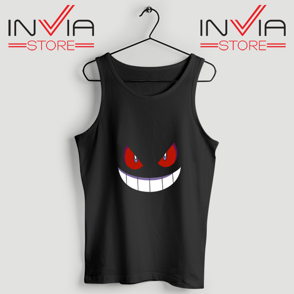 Buy Tank Top Pokemon Gengar Evolution Custom Size S-3XL Black