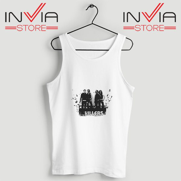 Buy Tank Top The Killers Band Wonderful Size S-3XL White