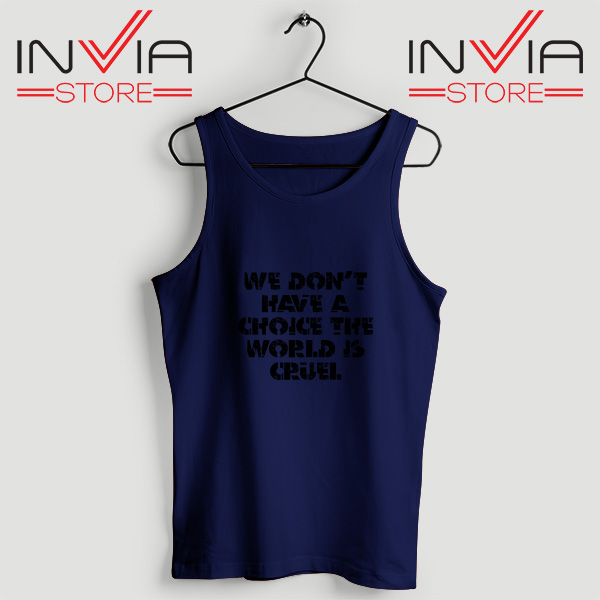 Buy Tank Top We Don't Have A Choice Size S-3XL Navy
