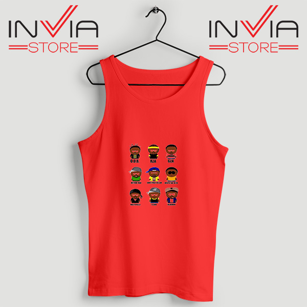 Buy Tank Top Wu Tang Clan Songs Custom Size S-3XL Red