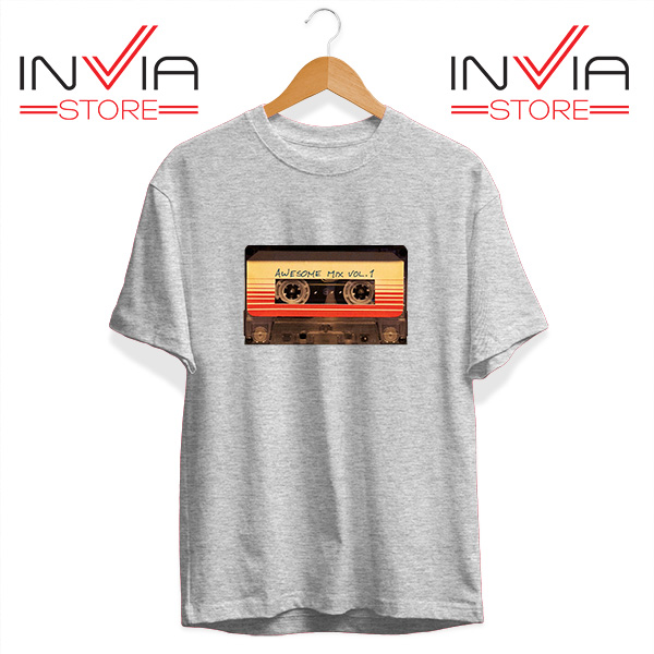 Buy Tshirt Awesome Mix Cassette Guardian Tee Shirt Size S-3XL Grey
