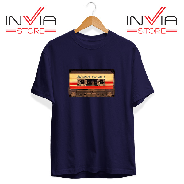 Buy Tshirt Awesome Mix Cassette Guardian Tee Shirt Size S-3XL Navy