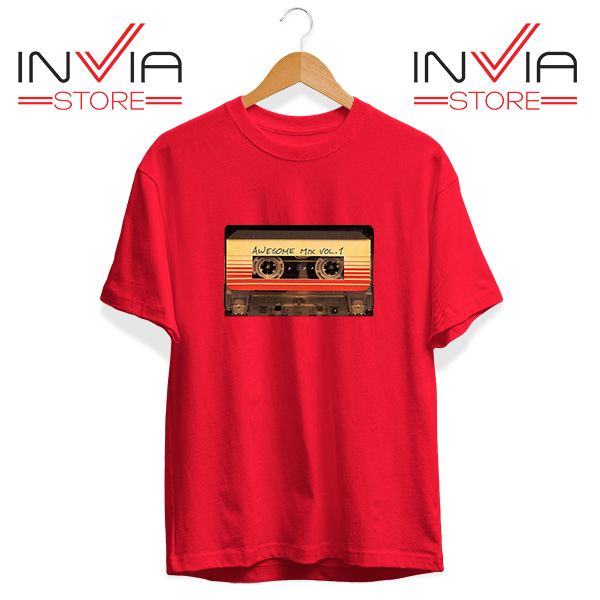 Buy Tshirt Awesome Mix Cassette Guardian Tee Shirt Size S-3XL Red