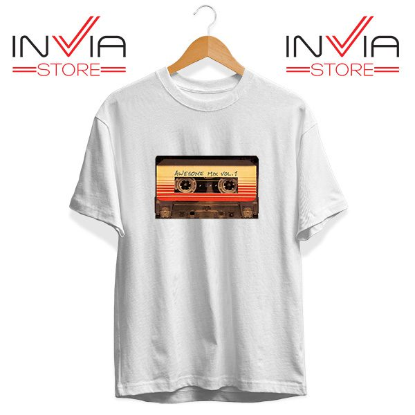 Buy Tshirt Awesome Mix Cassette Guardian Tee Shirt Size S-3XL White