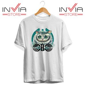 Buy Tshirt Bassnectar Chashire Cat Tee Shirt Size S-3XL White