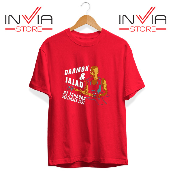 Buy Tshirt Darmok And Jalad At Tanagra Tee Shirt Size S-3XL Red