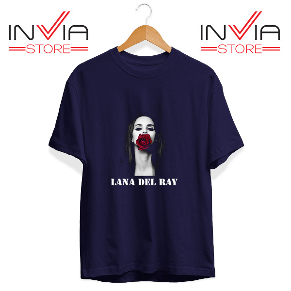 Buy Tshirt Lana Del Rey Rose Red Tee Shirt Size S-3XL Navy